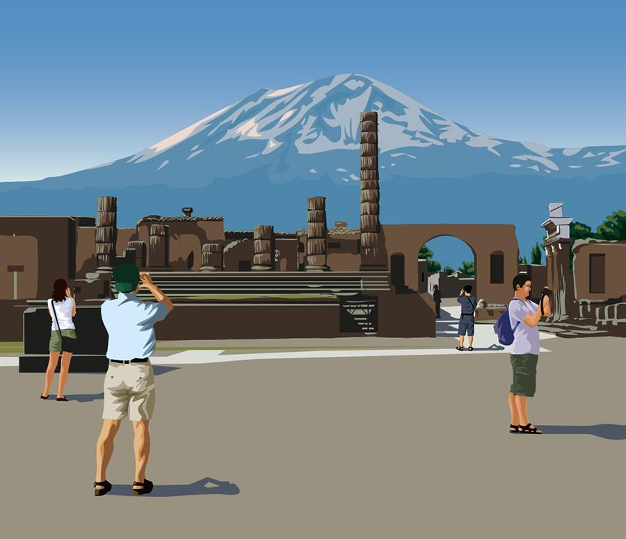 Pompeii Tourists