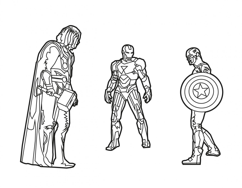 Cap, Iron Man, Thor